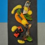 Makrele mit Kürbisvariation und Dill