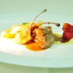 Kitzchulter und Kotelett, Wurzelgemüse und Zitronenpolenta
