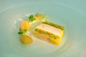 Fasanenterrine mit Fenchel-Selleriesalat und Apfel-Carpaccio