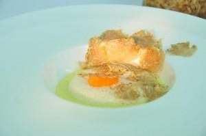 Polenta mit Eigelb & weißem Alba Trüffel