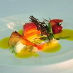 Antipasti - Tomate - Aubergine - Burrata - gelbe Gazpacho