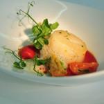 Jakobsmuschel - gebackener Caesar-Salat