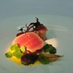 Thunfisch - gegrillte Wassermelone - Currymayonaise